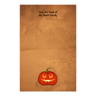 Smiling Pumpkin Personalized Stationery