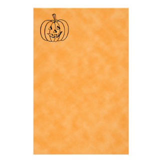 Smiling Pumpkin. Stationery Paper