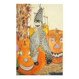 smiling pumpkins stationery