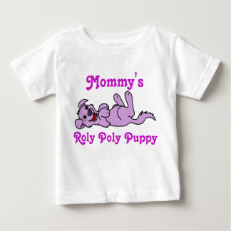 Smiling Purple Puppy Dog Roll Over Baby T-Shirt