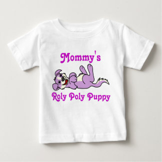 Smiling Purple Puppy Dog with Blaze Roll Over Baby T-Shirt