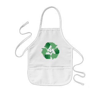 Smiling Recycle Symbol Kid's Apron