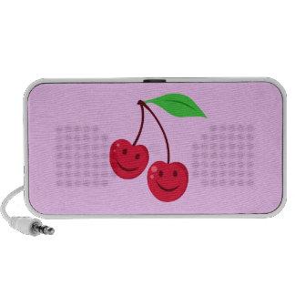 Smiling Red Cherries Portable Speakers