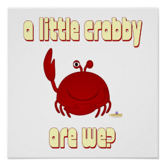 Smiling Red Crab A Little   Are We Posters