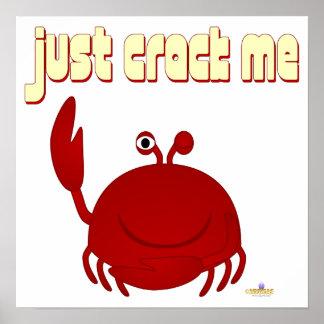 Smiling Red Crab Just Crack Me Poster