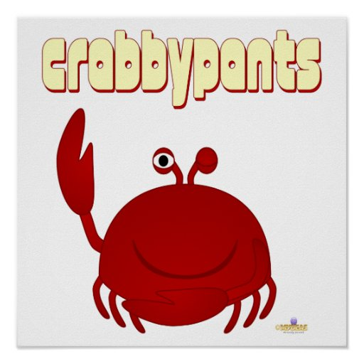 Smiling Red Crab  pants Poster