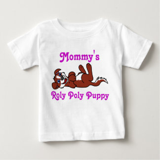 Smiling Red Puppy Dog with Blaze Roll Over Baby T-Shirt