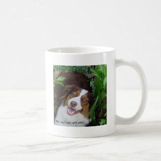Smiling Red Tri Aussie Basic White Mug