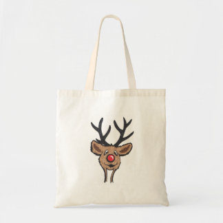 Smiling Reindeer Budget Tote Bag