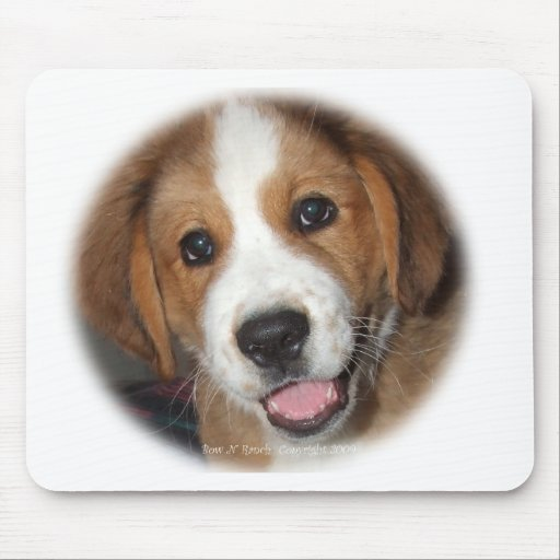 Smiling Rescue Dog Buddy Mouse Mat