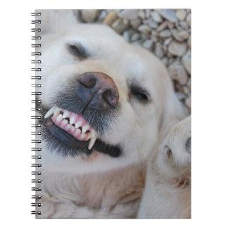 Smiling retriever notebook