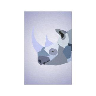 Smiling Rhino Canvas Print