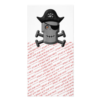Smiling Robot Pirate Jolly Roger Picture Card