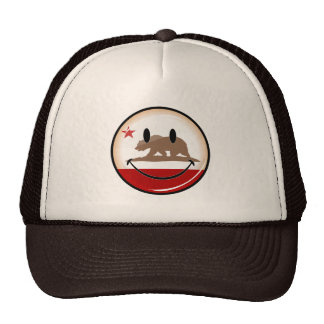 Smiling Round California Flag Trucker Hat