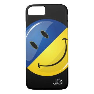 Smiling Round Ukrainian Flag iPhone 7 Case