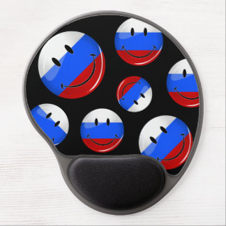 Smiling Russian Flag Gel Mouse Pad