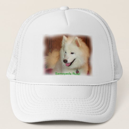 Smiling Samoyed Digital Oil Painting Effect Hat