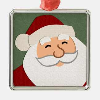 Smiling Santa Christmas Ornament