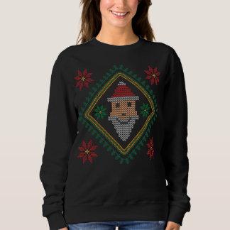 Smiling Santa Claus Holiday Christmas Sweater T-shirt