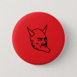 smiling_satan_btn_red 6 cm round badge