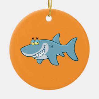 Smiling Shark Christmas Ornament