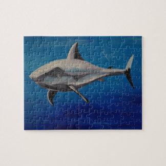 Smiling shark jigsaw puzzle