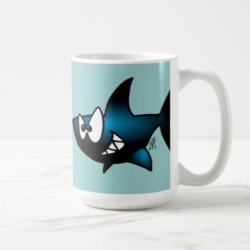 Smiling Shark Coffee Mugs