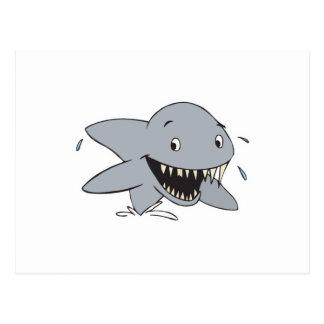 smiling shark postcard