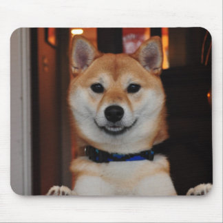 Smiling Shiba Inu Puppy Dog Mouse Mat