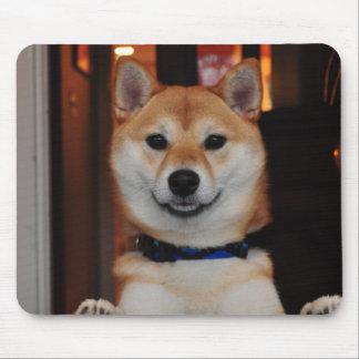 Smiling Shiba Inu Puppy Dog Mouse Pad