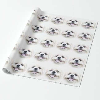 Smiling shih tzu wrapping paper