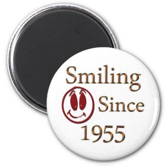 Smiling Since 1955 6 Cm Round Magnet
