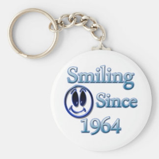 Smiling Since 1964 Basic Round Button Key Ring
