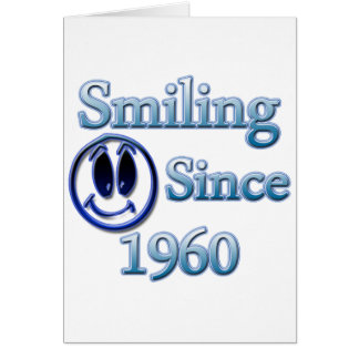 Smiling Since 1990 Greeting Card