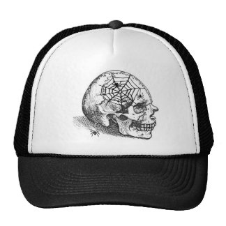 SMILING SKULL and SPIDERS VINTAGE PRINT Cap
