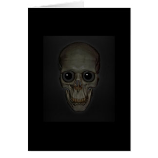 Smiling Skull with eyes Greeting Cards