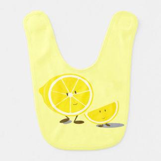 Smiling sliced lemons bib