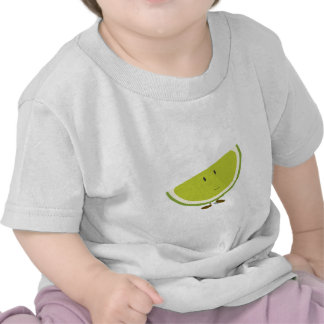 Smiling sliced lime character tee shirts