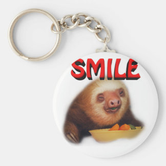 smiling slothie key ring