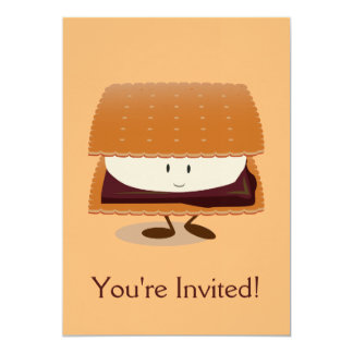 Smiling S'more Card