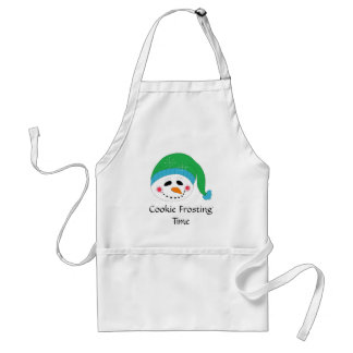 Smiling Snowman Cookie Frosting Time Standard Apron