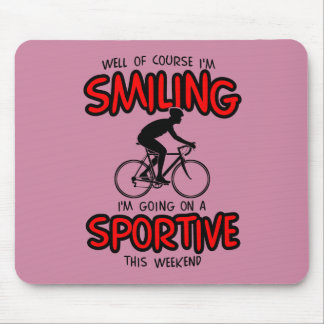 Smiling Sportive W/end Mouse Mat
