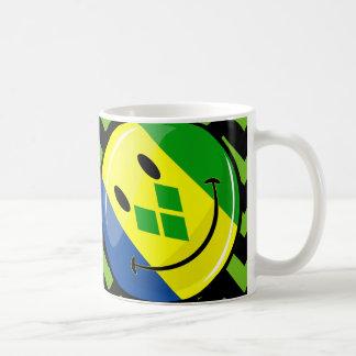 Smiling St. Vincent and Grenadines Flag Basic White Mug