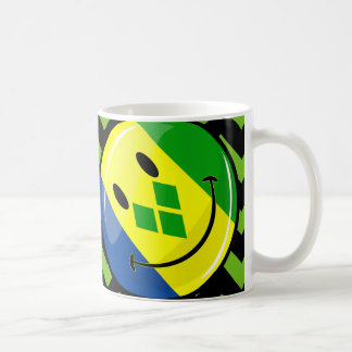 Smiling St. Vincent and Grenadines Flag Coffee Mug