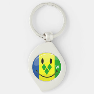 Smiling St. Vincent and Grenadines Flag Key Chains