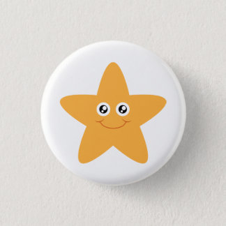 Smiling Starfish Button
