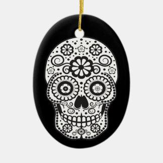 Smiling Sugar Skull Christmas Ornament