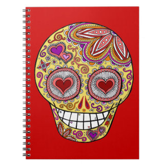 Smiling Sugar Skull Heart Eyes Journal / Notebook