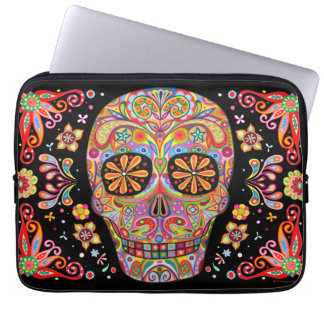 Smiling Sugar Skull Laptop Sleeve