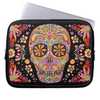 Smiling Sugar Skull Laptop Sleeve